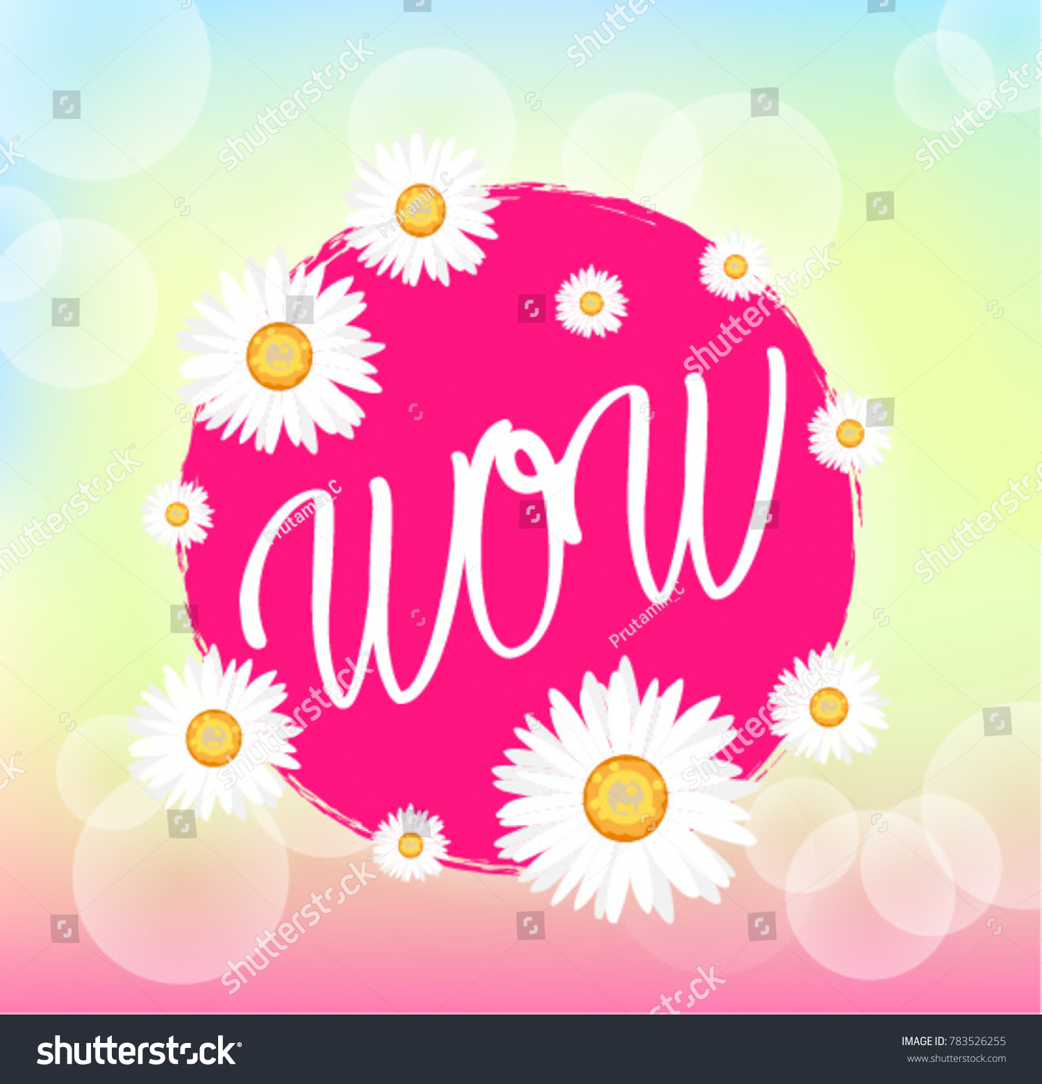 3b89e2f03 Wow Beautiful Greeting Card Bunch Flowers Stock Vector (Royalty Free ...
