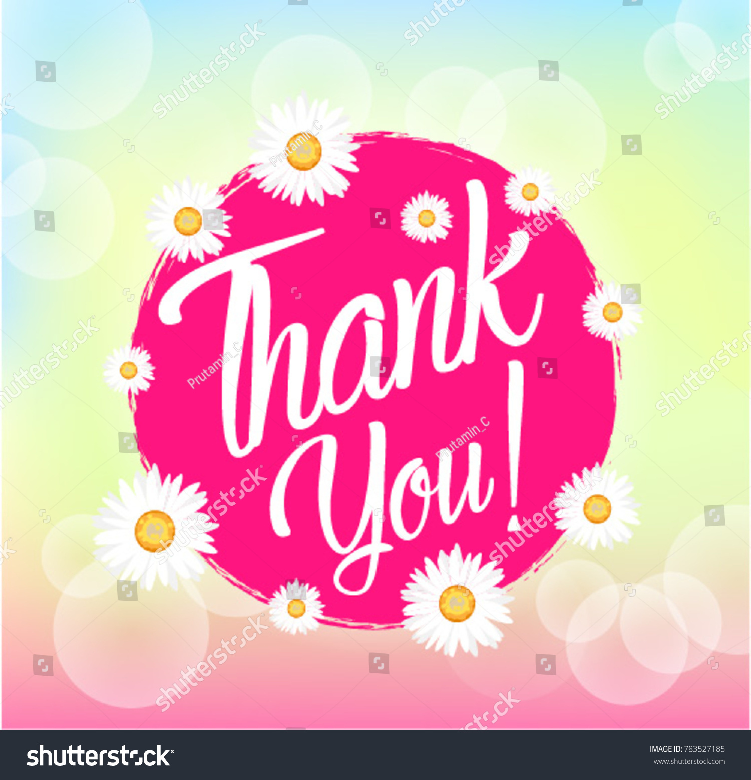 Thank you beautiful greeting card bunch stock vector 783527185 thank you beautiful greeting card with bunch flowers background kristyandbryce Choice Image