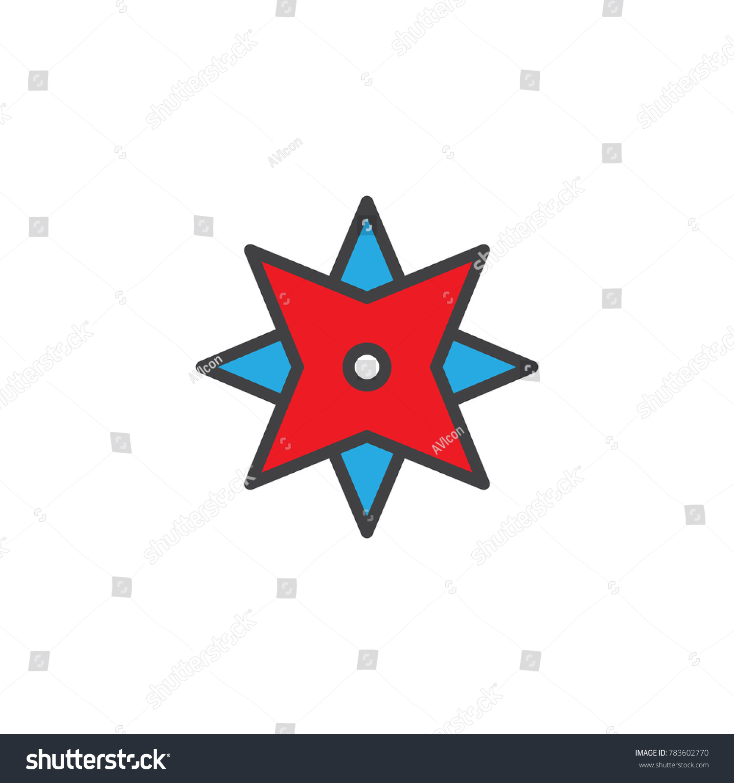 Wind rose filled outline icon line stock vector 783602770 wind rose filled outline icon line vector sign linear colorful pictogram isolated on white sciox Images