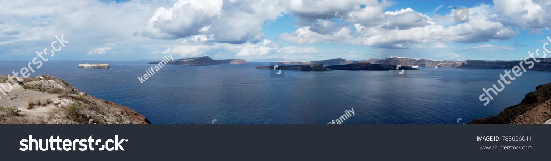 Panorama View Caldera Island Santorini Stock Photo (Edit Now