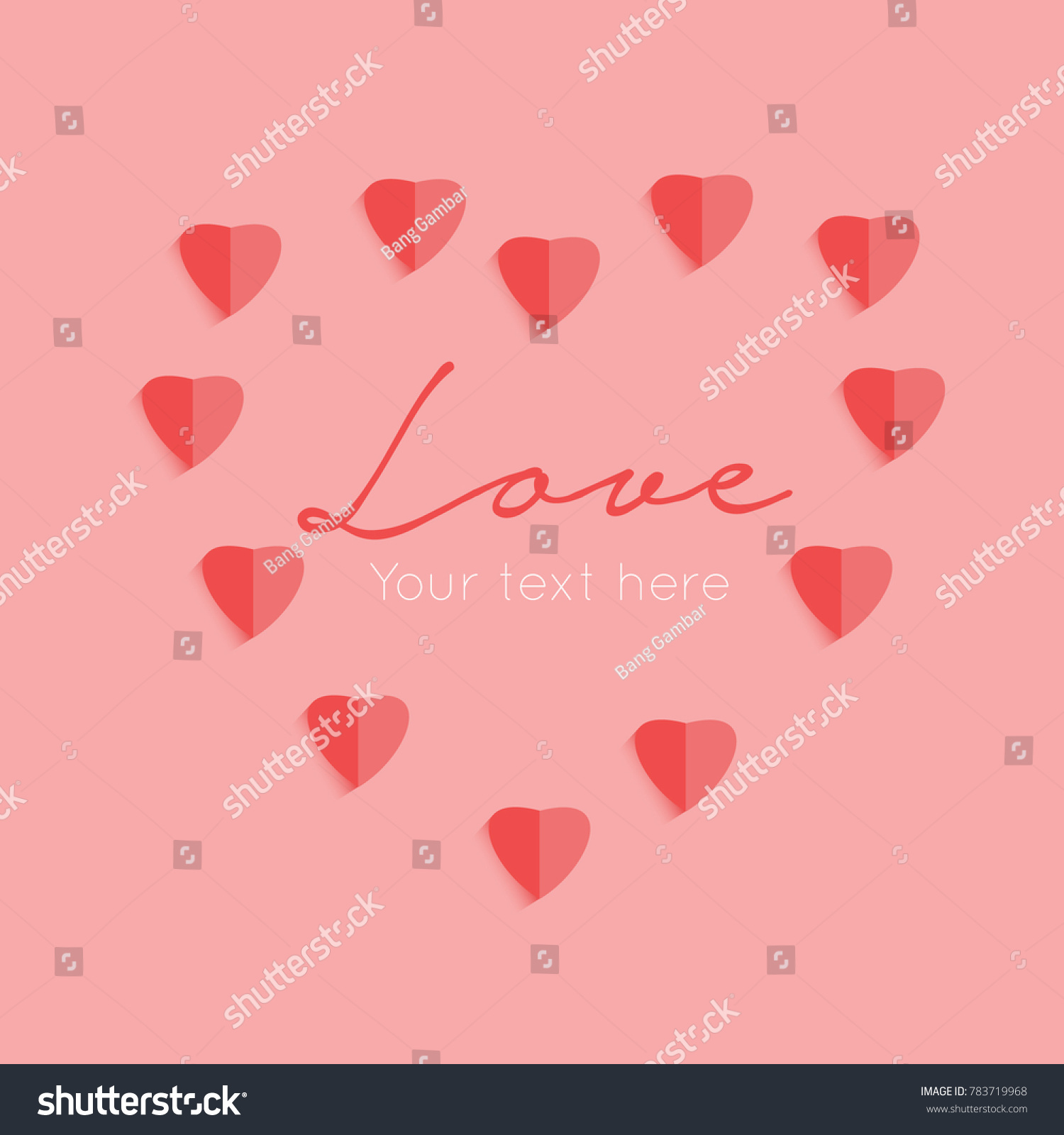 Love Greetings Vector Stock Vector Royalty Free 783719968