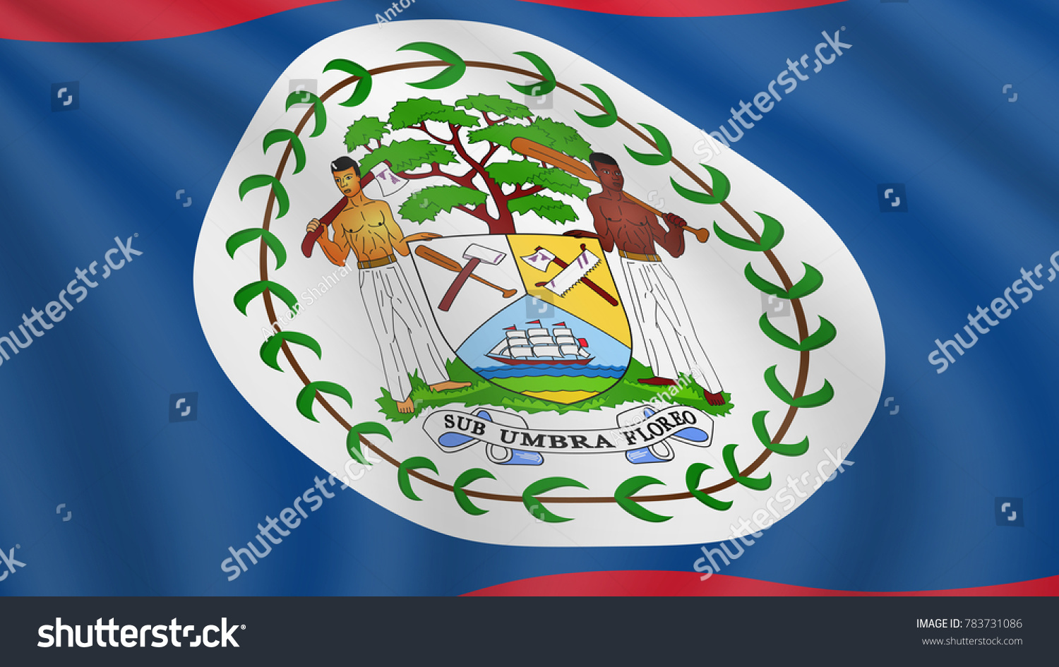 Realistic waving flag belize current national stock vector realistic waving flag of belize current national flag of belize illustration of lying wavy biocorpaavc Image collections