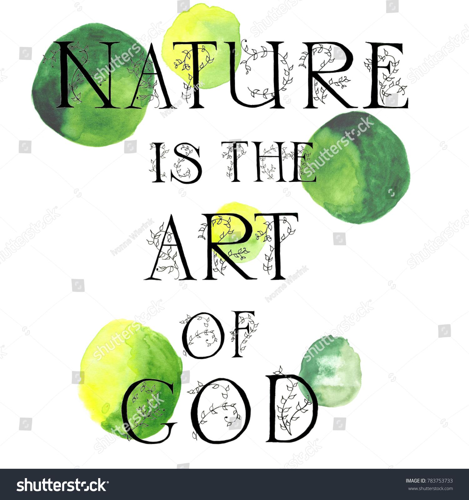 Royalty Free Stock Illustration Of Hand Lettering Nature Art God