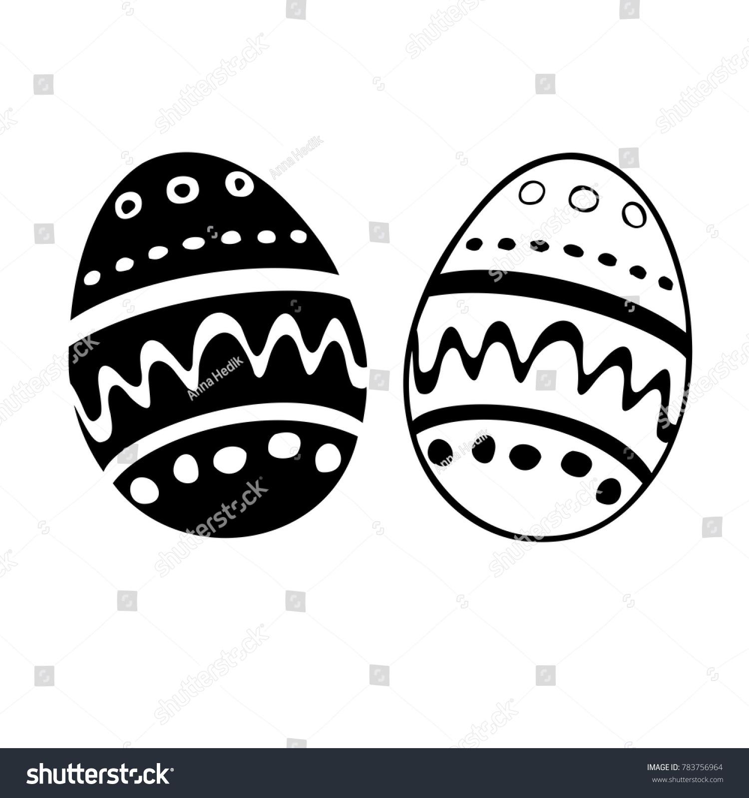Egg icon easter eggs symbol black stock vector 783756964 egg icon easter eggs symbol black and white flat vector holiday buycottarizona