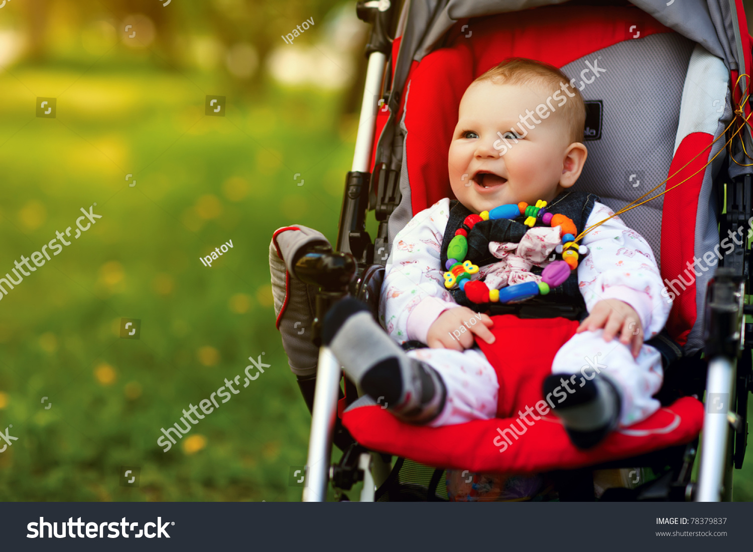 Baby Sitting Stroller On Nature Stock Photo 78379837 - Shutterstock