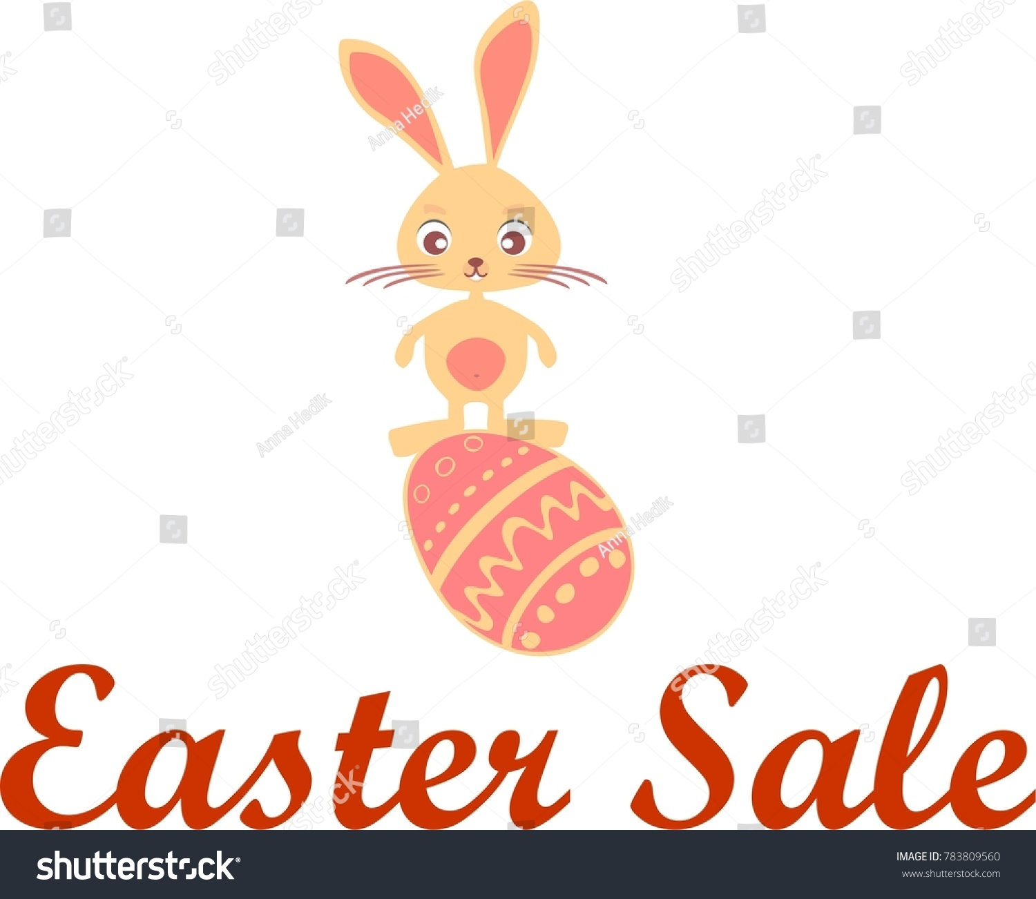 Easter Sale Logo Icon Rabbit Symbol Stock Vector Royalty Free