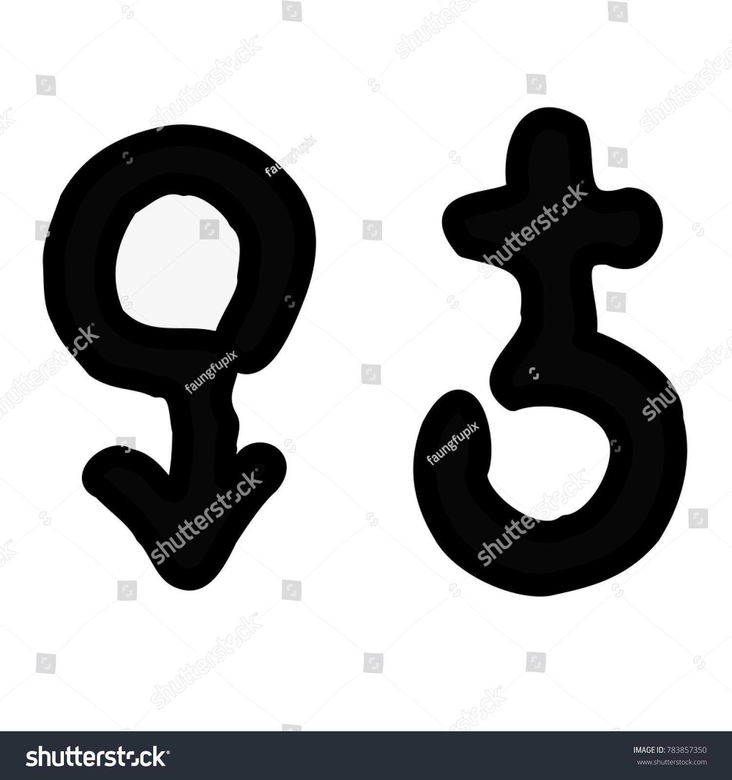 Male Female Symbol Vector Illustration Stock Vector 783857350