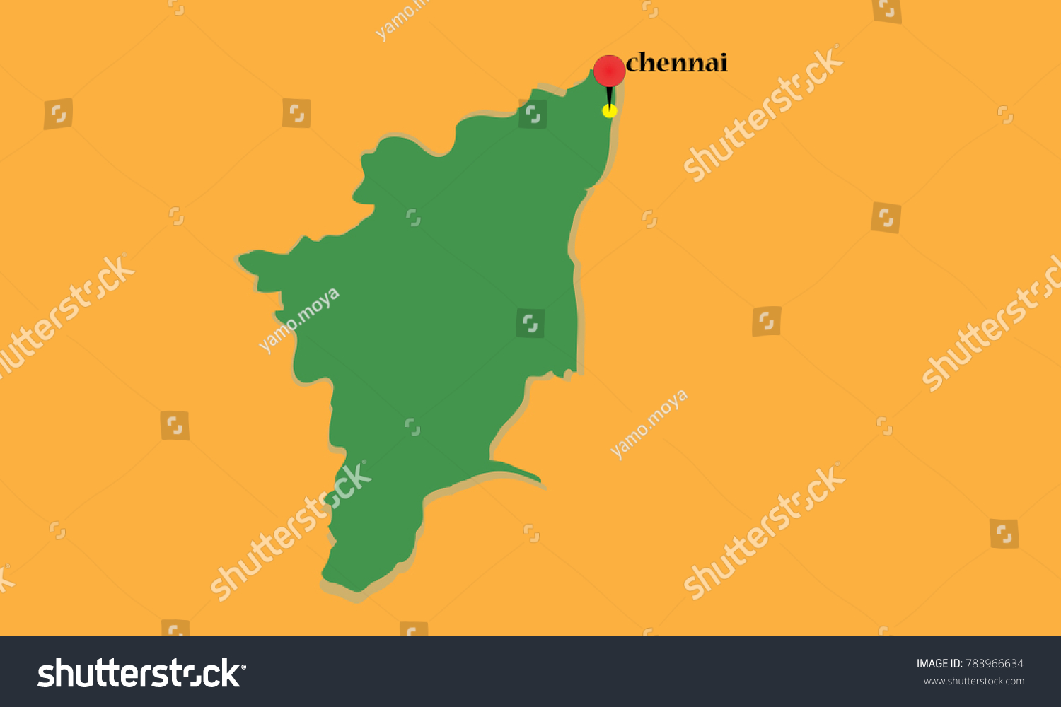 Chennai pinned on map tamil nadu stock vector 783966634 shutterstock chennai pinned on a map of tamil nadu gumiabroncs Image collections