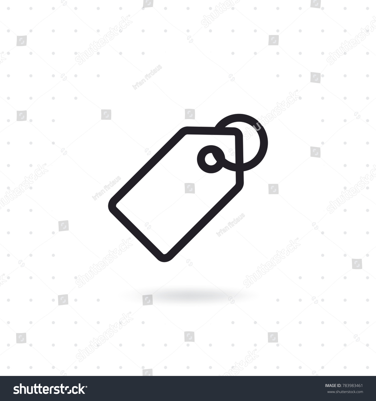 Price Tag Icon Tag Label Icon Stock Vector Royalty Free 783983461