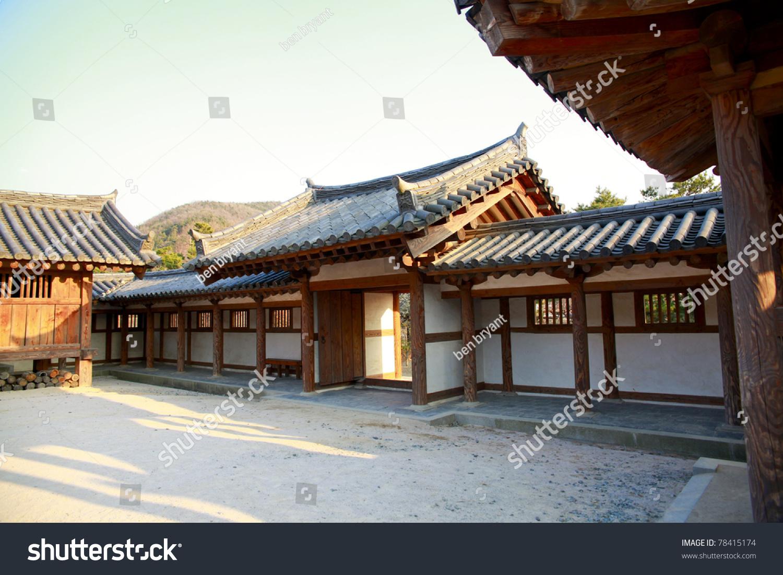 ^ raditional Korean House South Korea Stock Photo 78415174 ...
