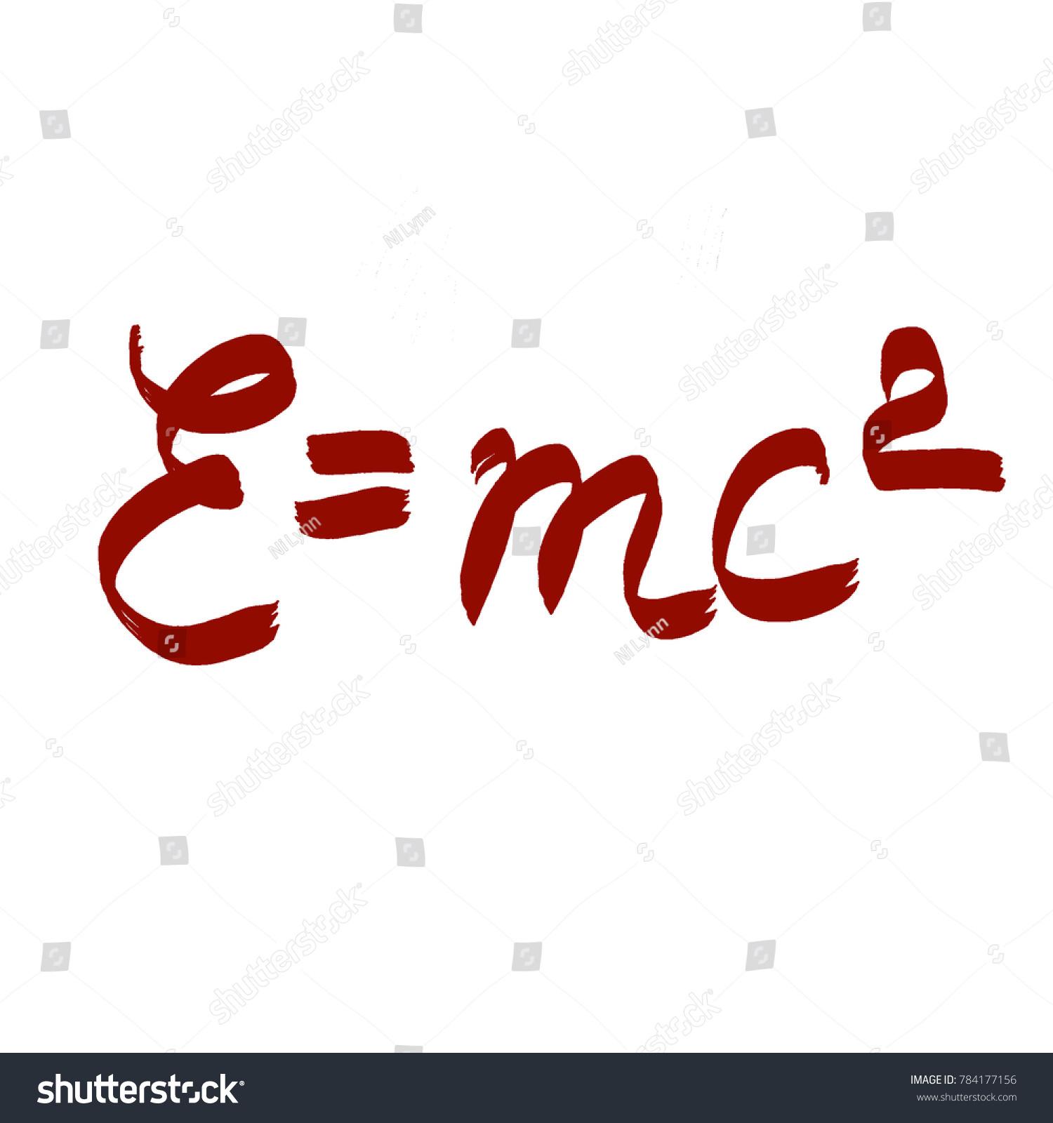 Handwritten Formula Emc 2 Stock Illustration 784177156 Shutterstock
