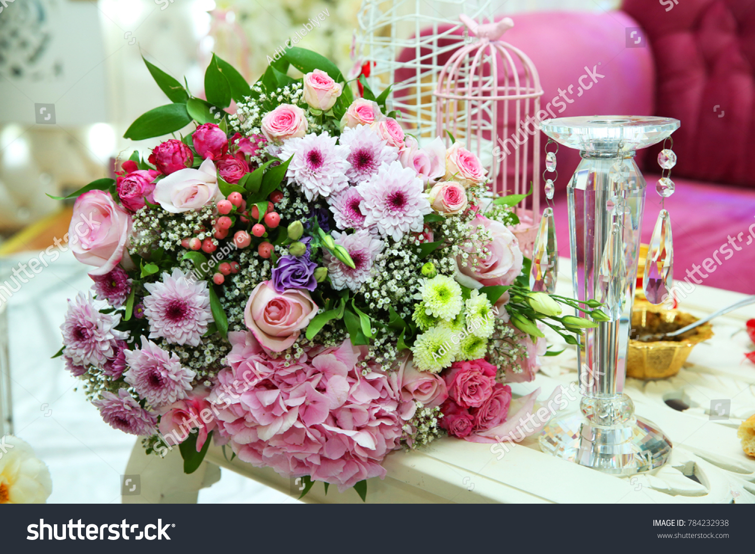 Multicolored Flower Bouquet Beautiful Bouquet Colored Stock Photo