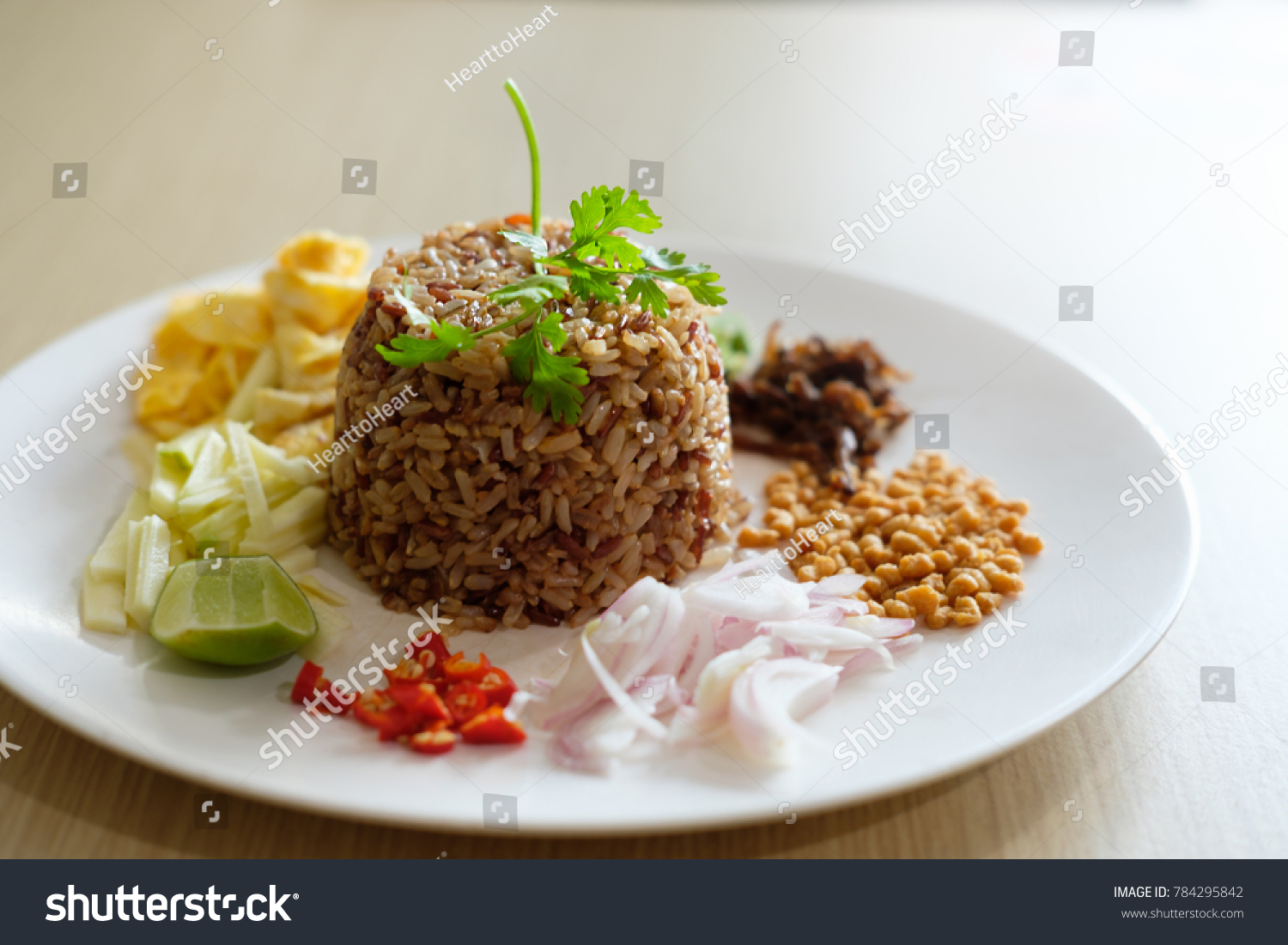 Shrimp Paste Fried Rice This Healthy Stock Photo Edit Now
