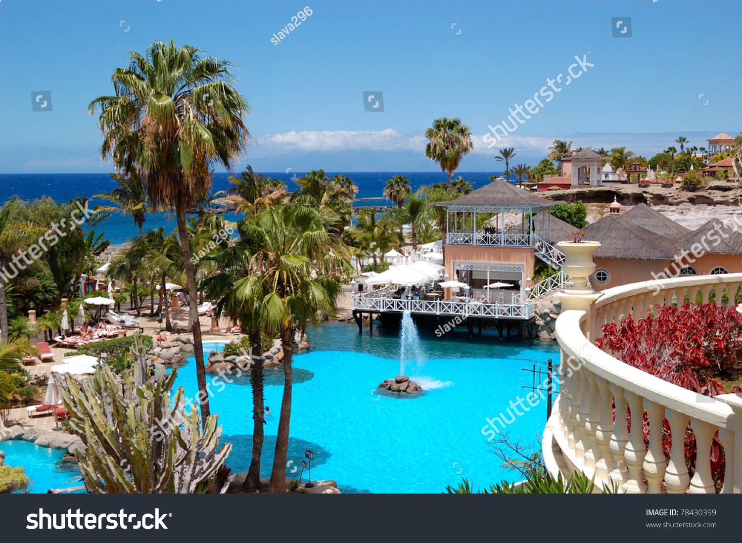 Swimming pool open air restaurant and beach of luxury - Hotels in madrid spain with swimming pool ...