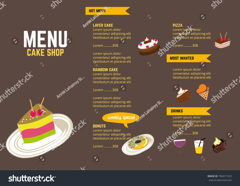 coffee restaurant brochure menu vector design stock vector (royalty