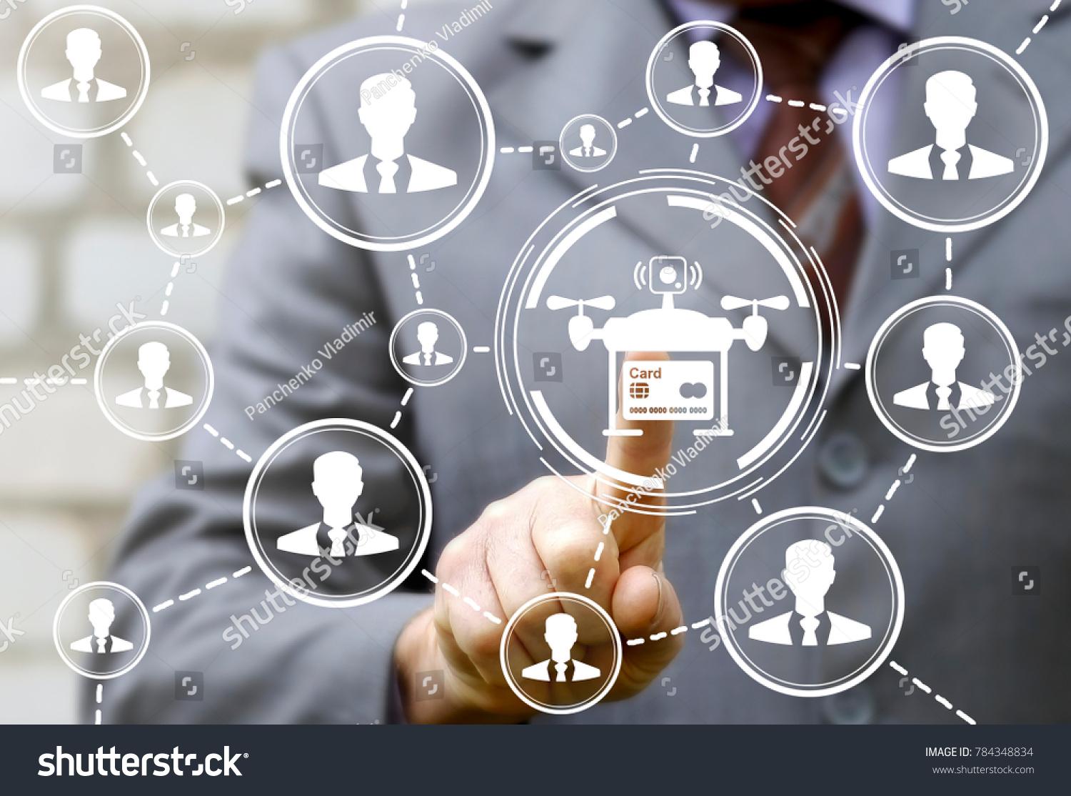 Drone Shop Business Credit Card Web Stock Photo 784348834 ...