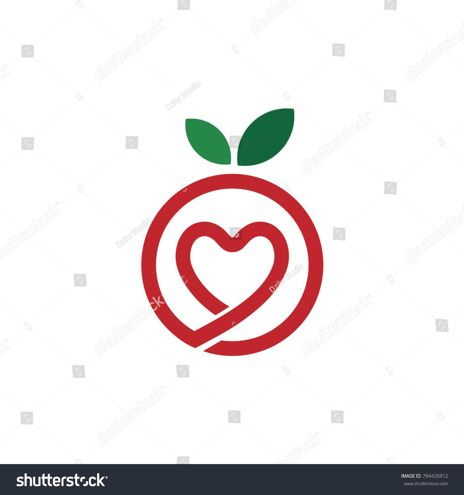 Love fruit logo stock vector 784426912 shutterstock love fruit logo biocorpaavc