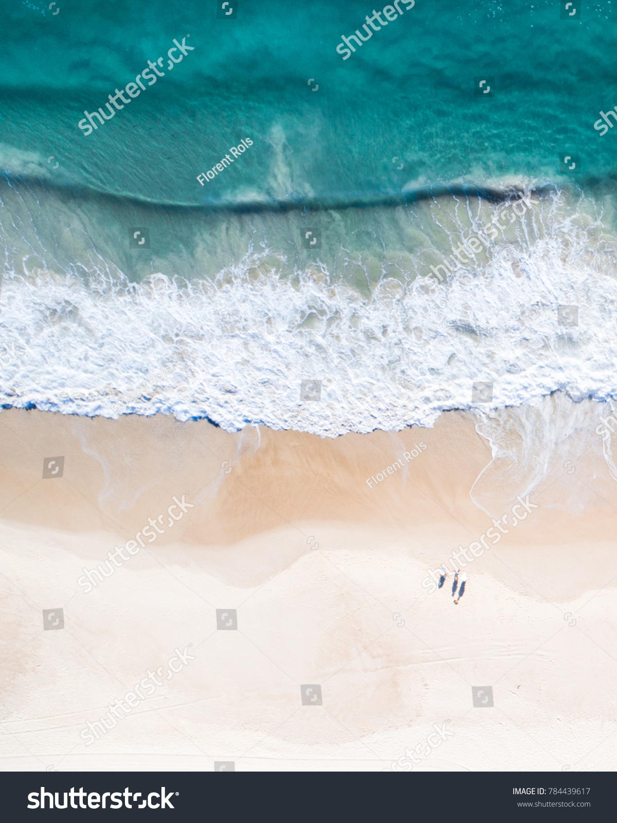 Beach holidays pictures Drone views of beach, waves, surf, swimmer, sea, ocean in Australia. Beautiful aerial of coastal images. #784439617