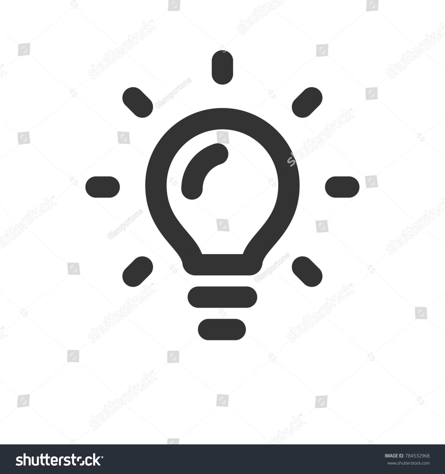 Shining Lamp Icon Bright Idea