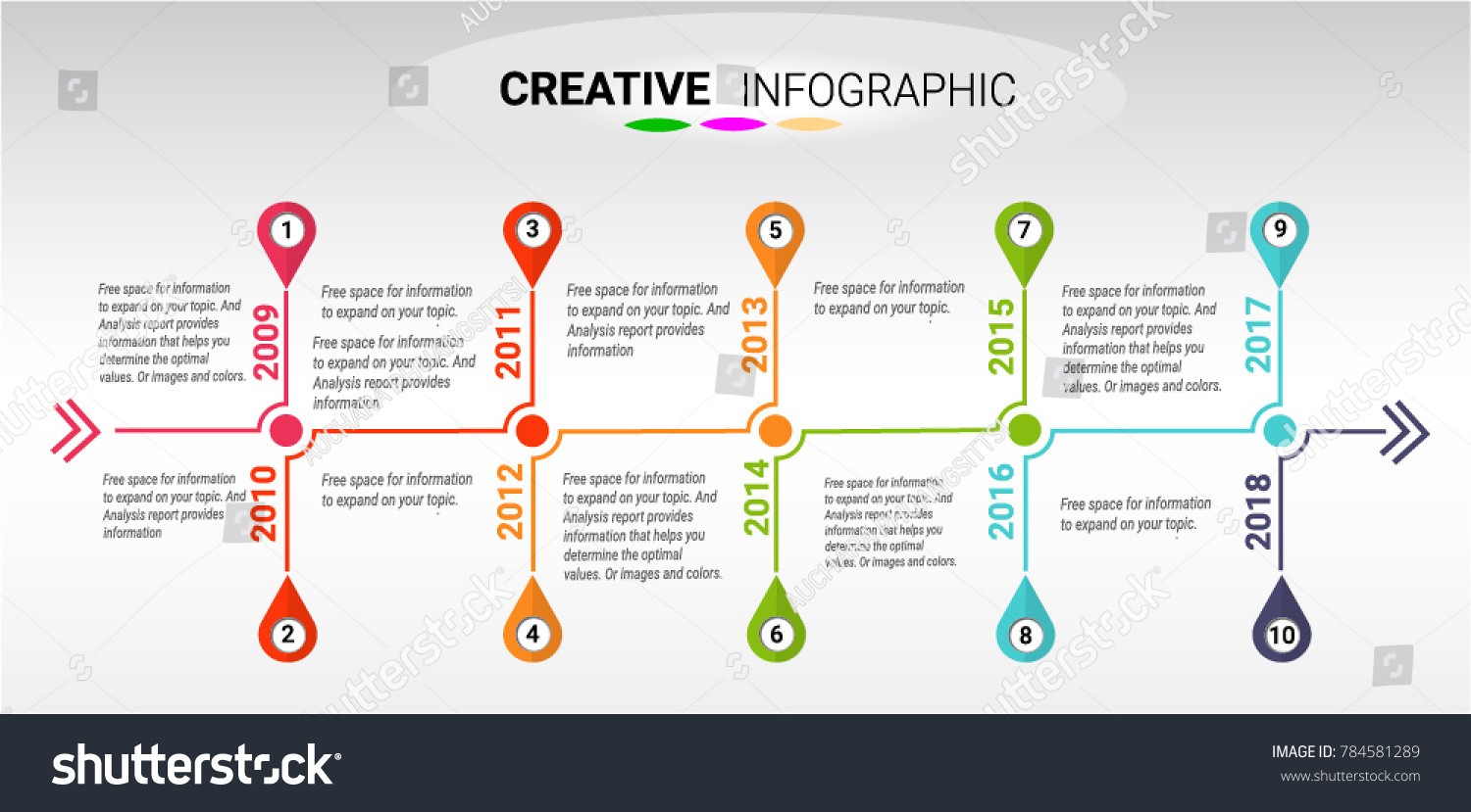 Timeline Infographics Template Vector Infographics Timeline Stock - Free timeline infographic template
