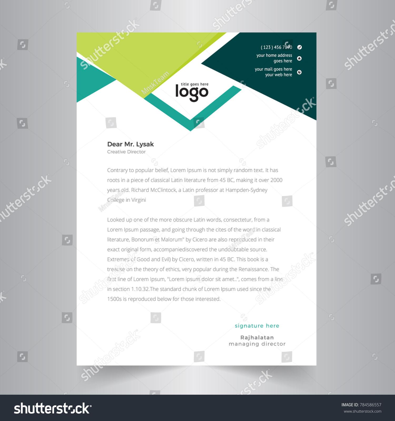Creative business letterhead design stock vector hd royalty free creative business letterhead design spiritdancerdesigns Gallery