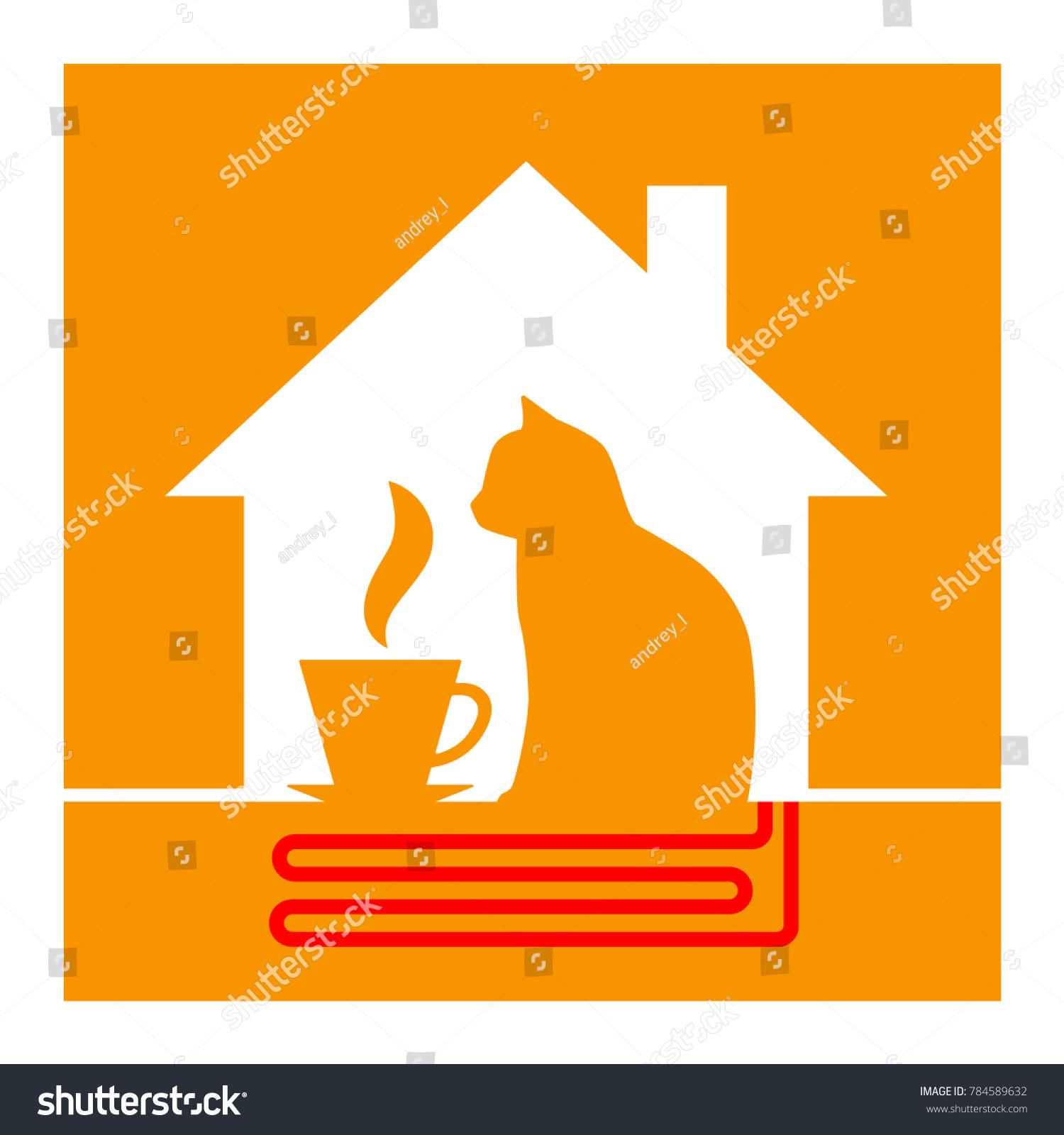 Warm Gradient Line Drawing Of A Cartoon House Lizenzfrei Nutzbare  Vektorgrafiken, Clip Arts, Illustrationen. Image 130511419.