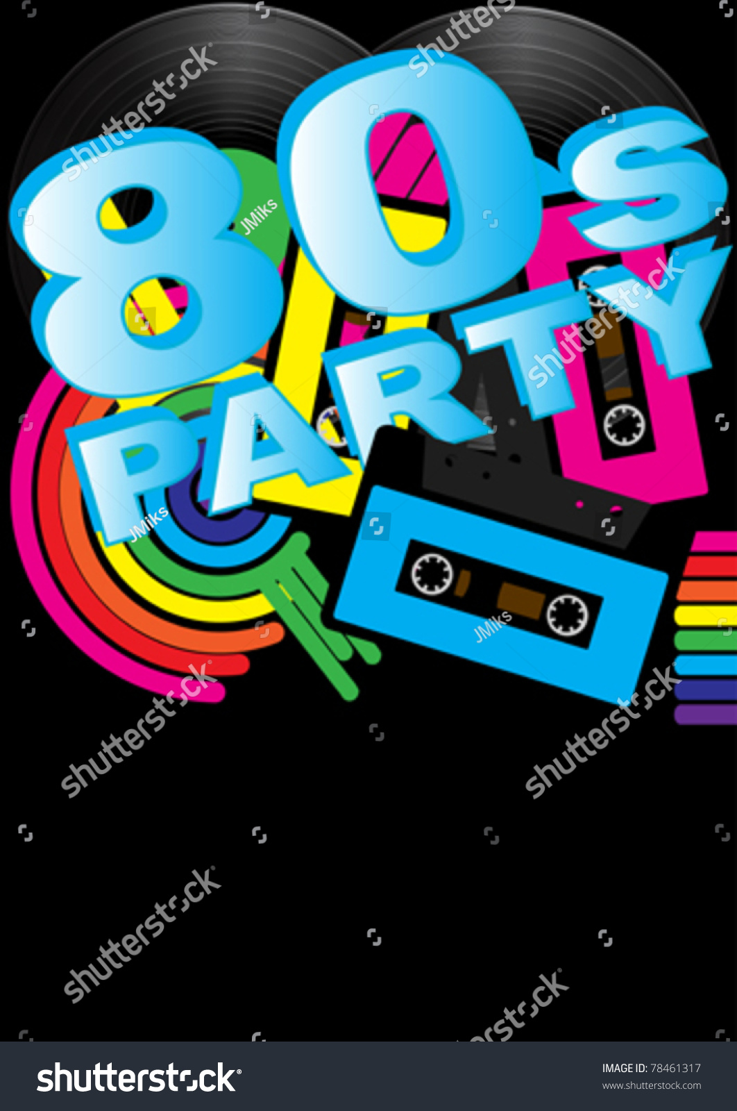 80S Party Invitations – 80s Party Invite Template