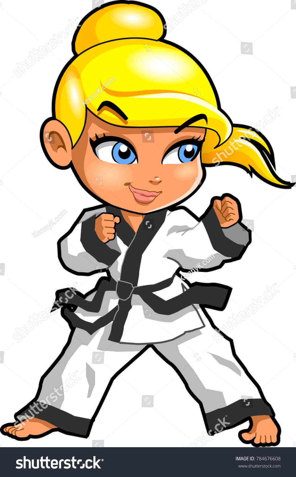 Karate Martial Arts Tae Kwon Do Stock Vector Royalty Free 784676608