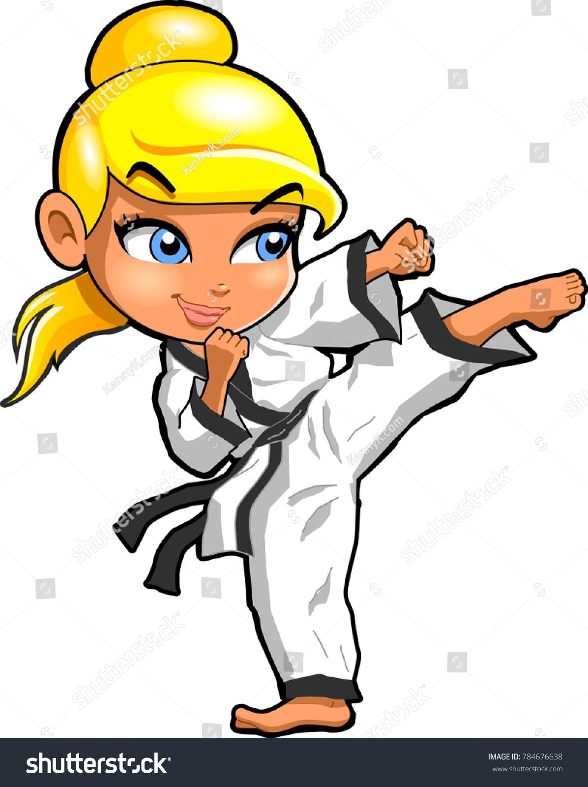 Karate Martial Arts Tae Kwon Do Stock Vector Royalty Free 784676638