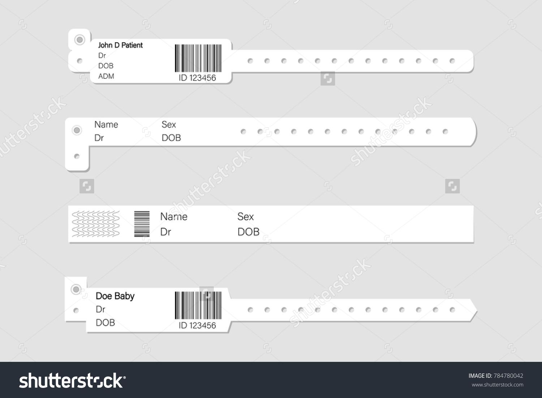 Wristband Template Set Stock Vector Illustration Stock-Vektorgrafik ...