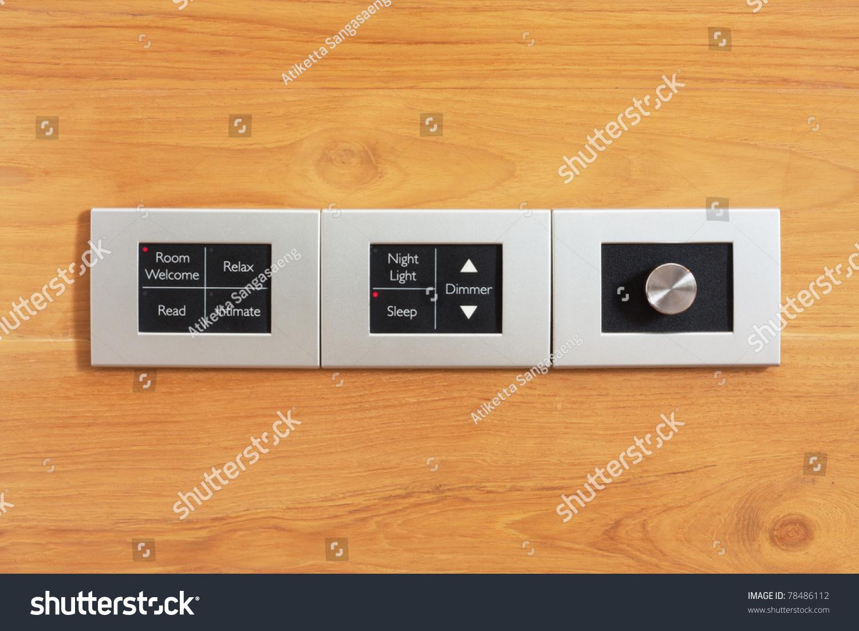 Moderm Switch Control Hotel Room Stock Photo 78486112