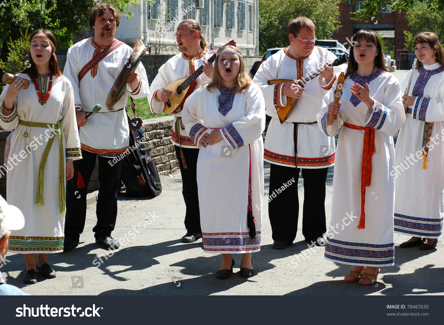 kurgan russia traditional russian stock photo  kurgan russia 21 traditional russian singers pose during festival of russian culture