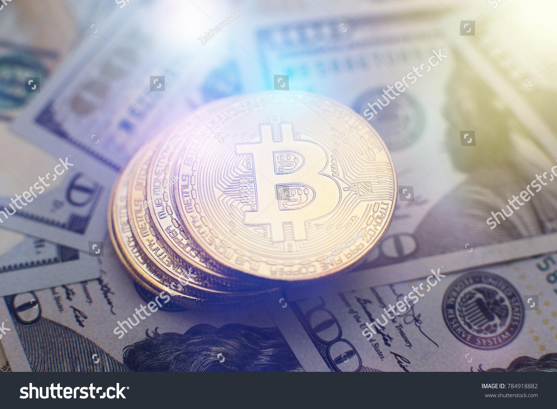 Bitcoin currency dollar btc market symbol stock photo 784918882 bitcoin currency and dollar btc market symbol cryptocurrency rising above the united states dollar buycottarizona