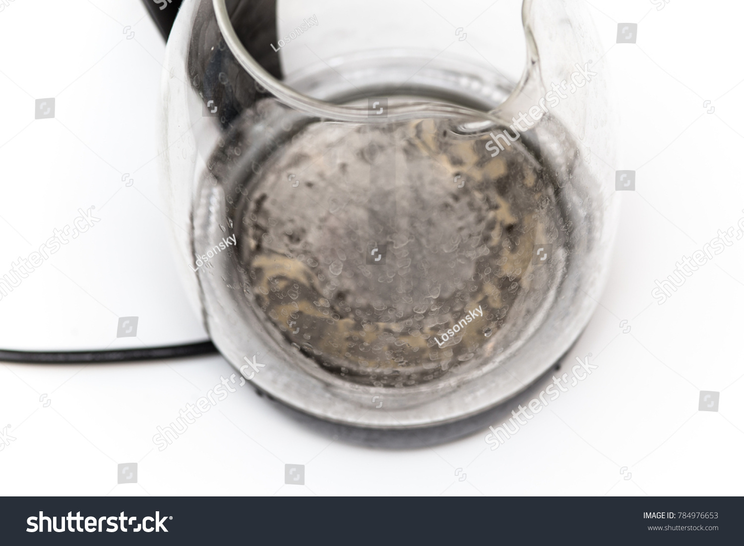 Hard Water Kettle Limescale Kitchen Stock Photo (Edit Now) 784976653 ...