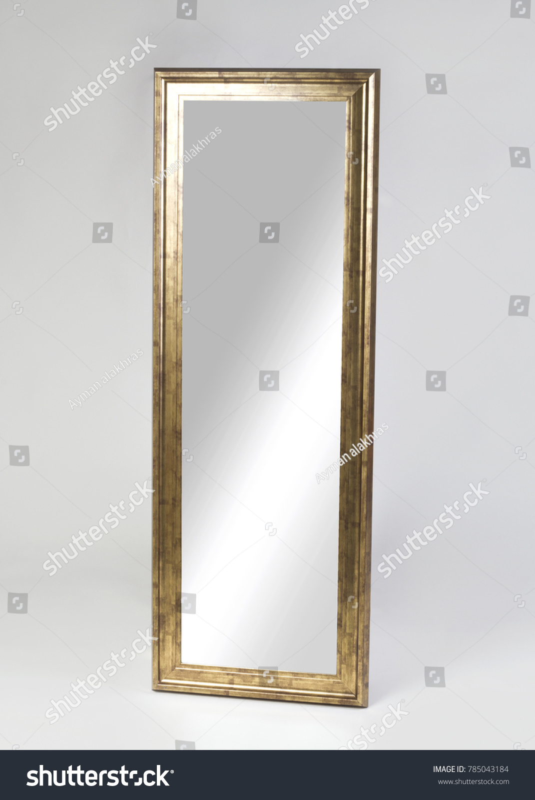 Large Golden Framed Mirror Isolated On Stock Photo (Edit Now ...