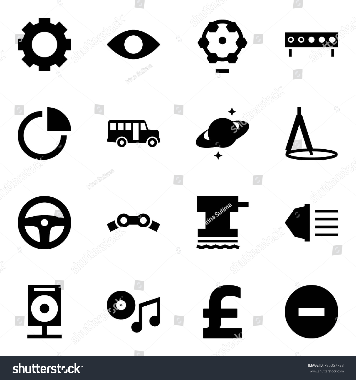 Origami Style Icon Set Gear Vector Stock Royalty Free Saturn Wheel Diagram Eye Ferris Biathlon