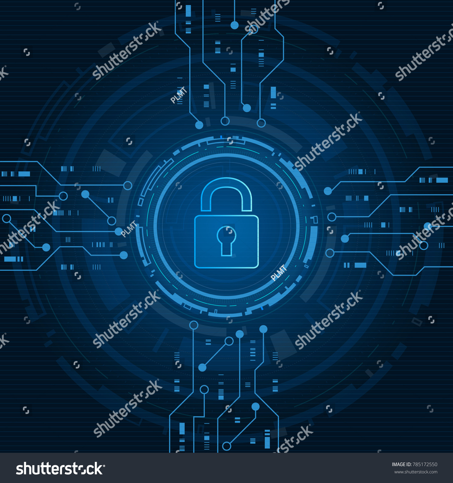 Cyber security technology concept shield keyhole stock vector cyber security technology concept shield with keyhole icon with world map background personal data gumiabroncs Images