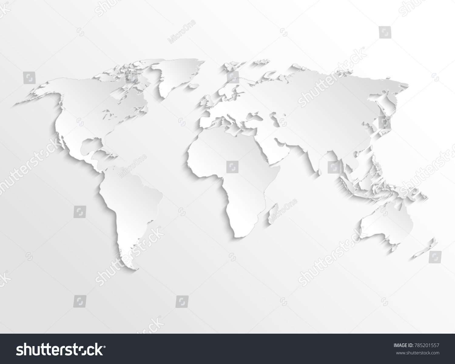white paper earth 3 d map template stock illustration 785201557