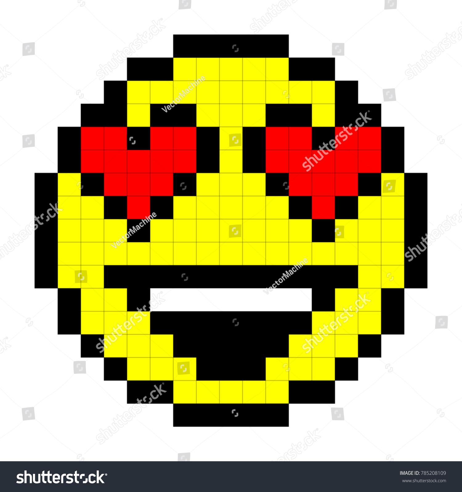 Image Vectorielle De Stock De Smiley Pixel Art Style On