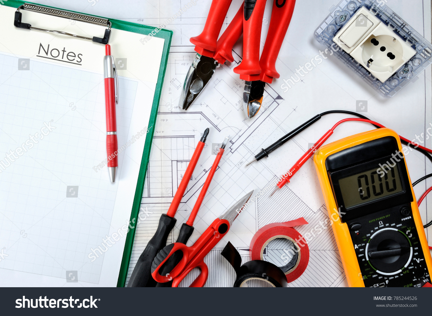 Auto Electrical Wiring Tools Command Protection Equipment Operating Stock Photo And For In Compliance With The Safety Standards Of