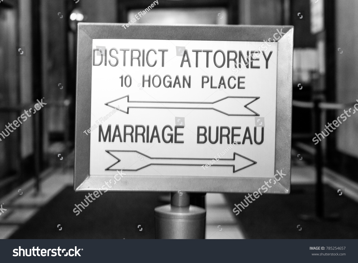 Directions Marriage Bureau Nyc Stock Photo (Edit Now) 785254657