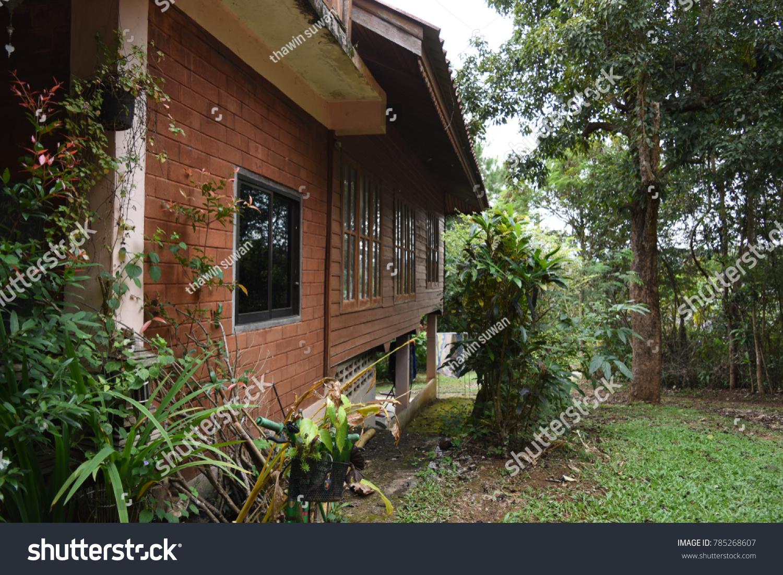 Teak Wood House Northern Thailand Stock Photo Edit Now
