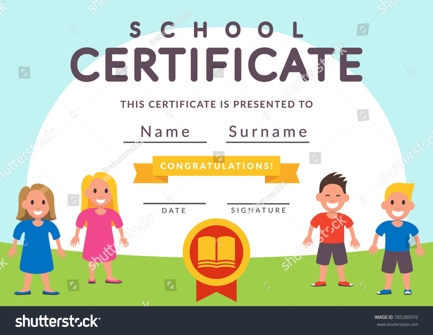 Child certificate template images templates example free download school certificate template kids kindergarten students stock school certificate template kids kindergarten students stock vector 785286976 xflitez Images