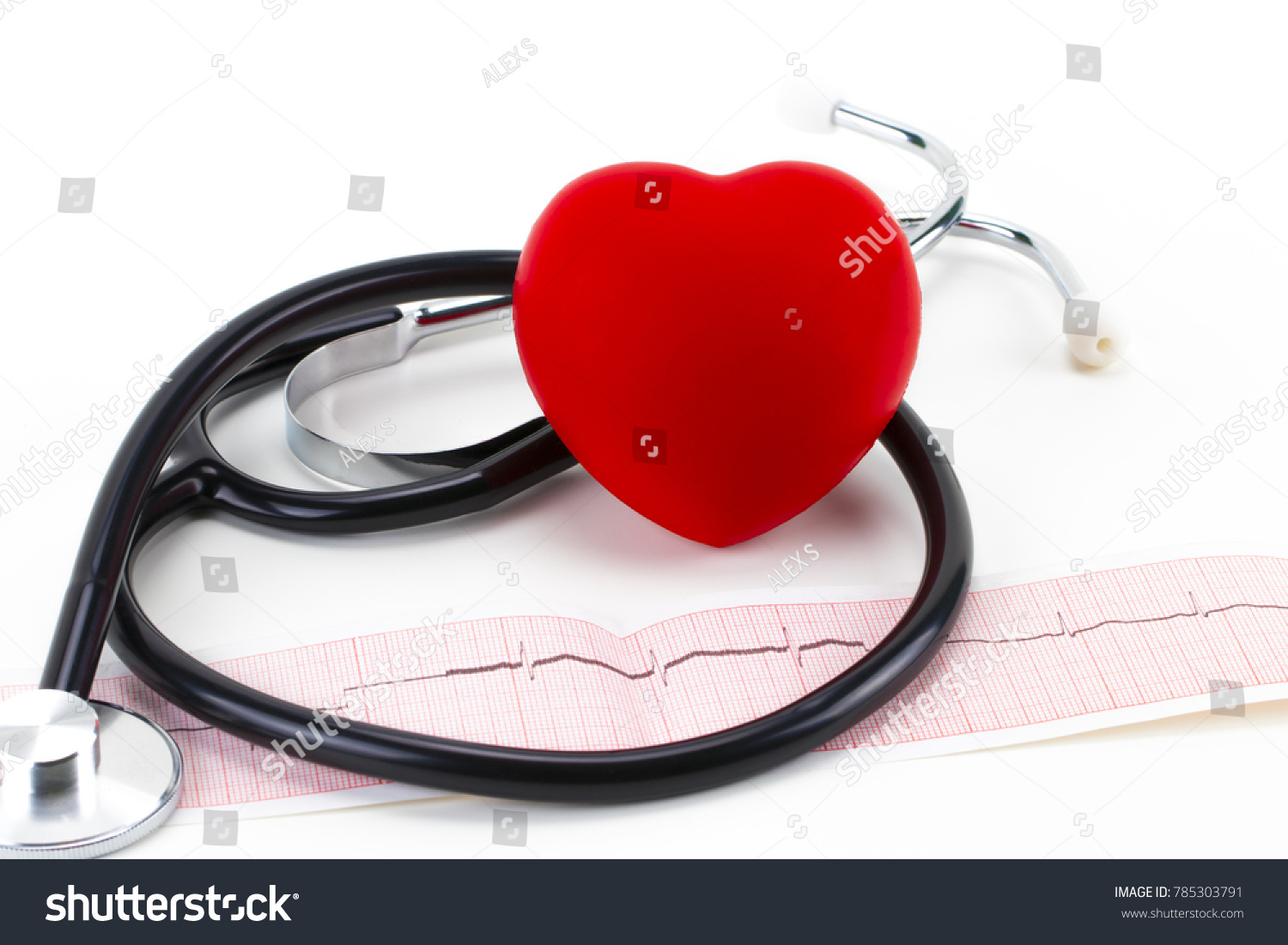 medical stethoscope red toy heart lying stock photo royalty free