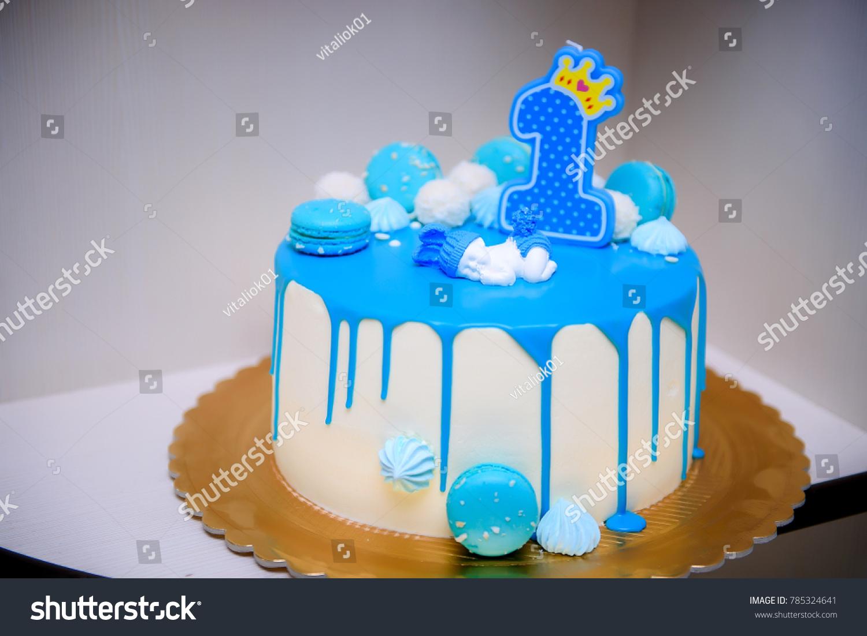 Bluie Birthday Cake First Aniversary 1 Year Boys