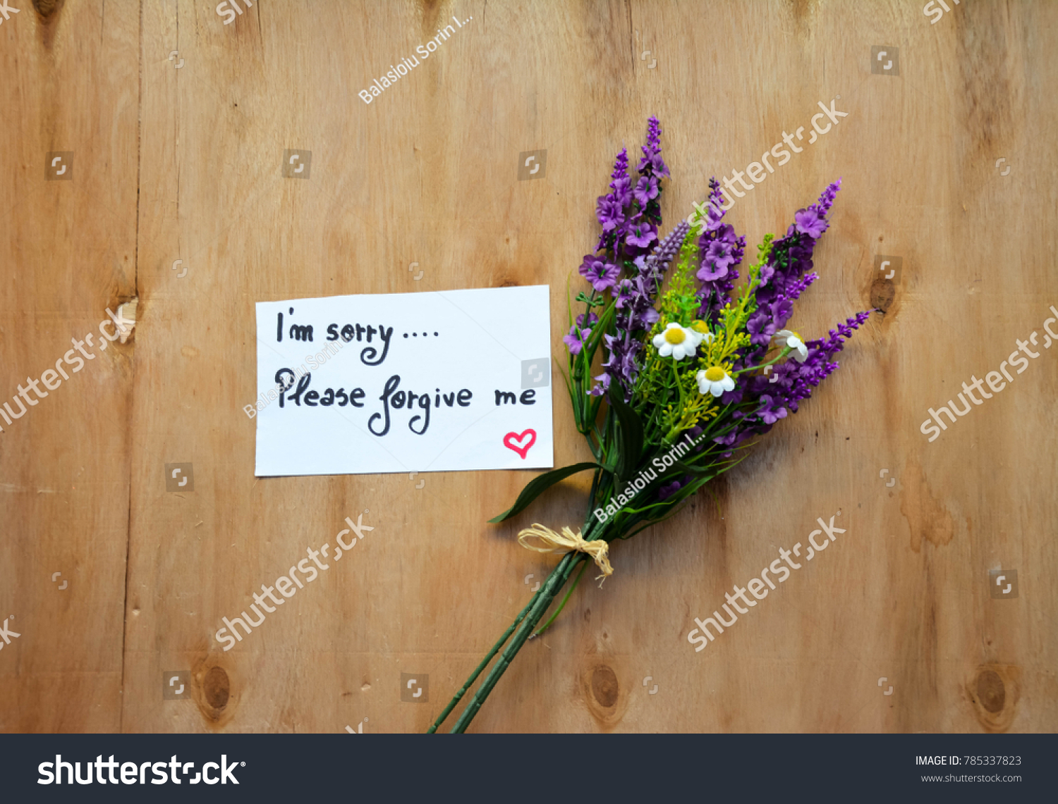 Colorful Lavender Flower Bouquet M Sorry Stock Photo Edit Now