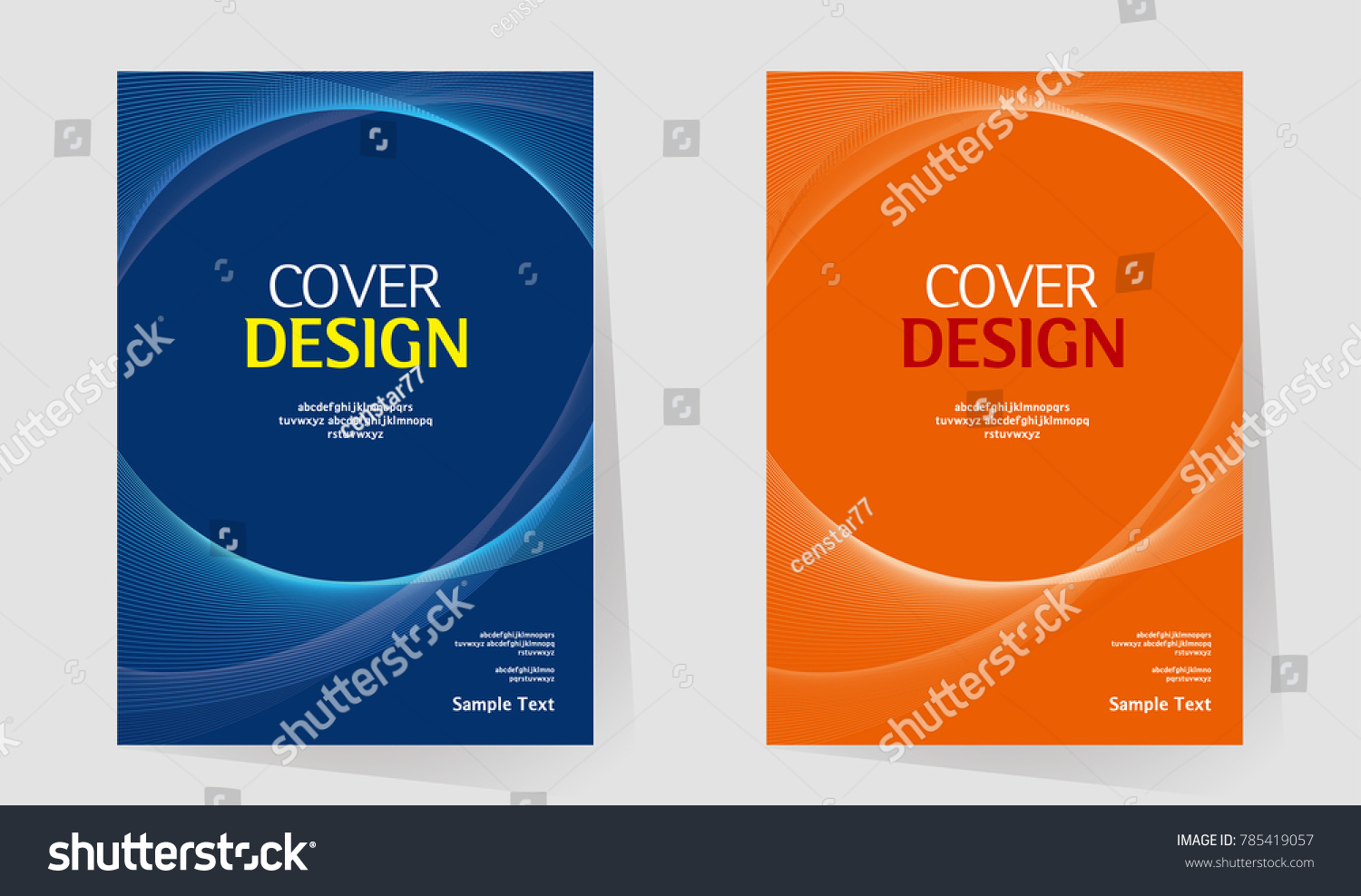 Creative Book Cover Design Samples ~ Book cover annual report design layout stock vector royalty free