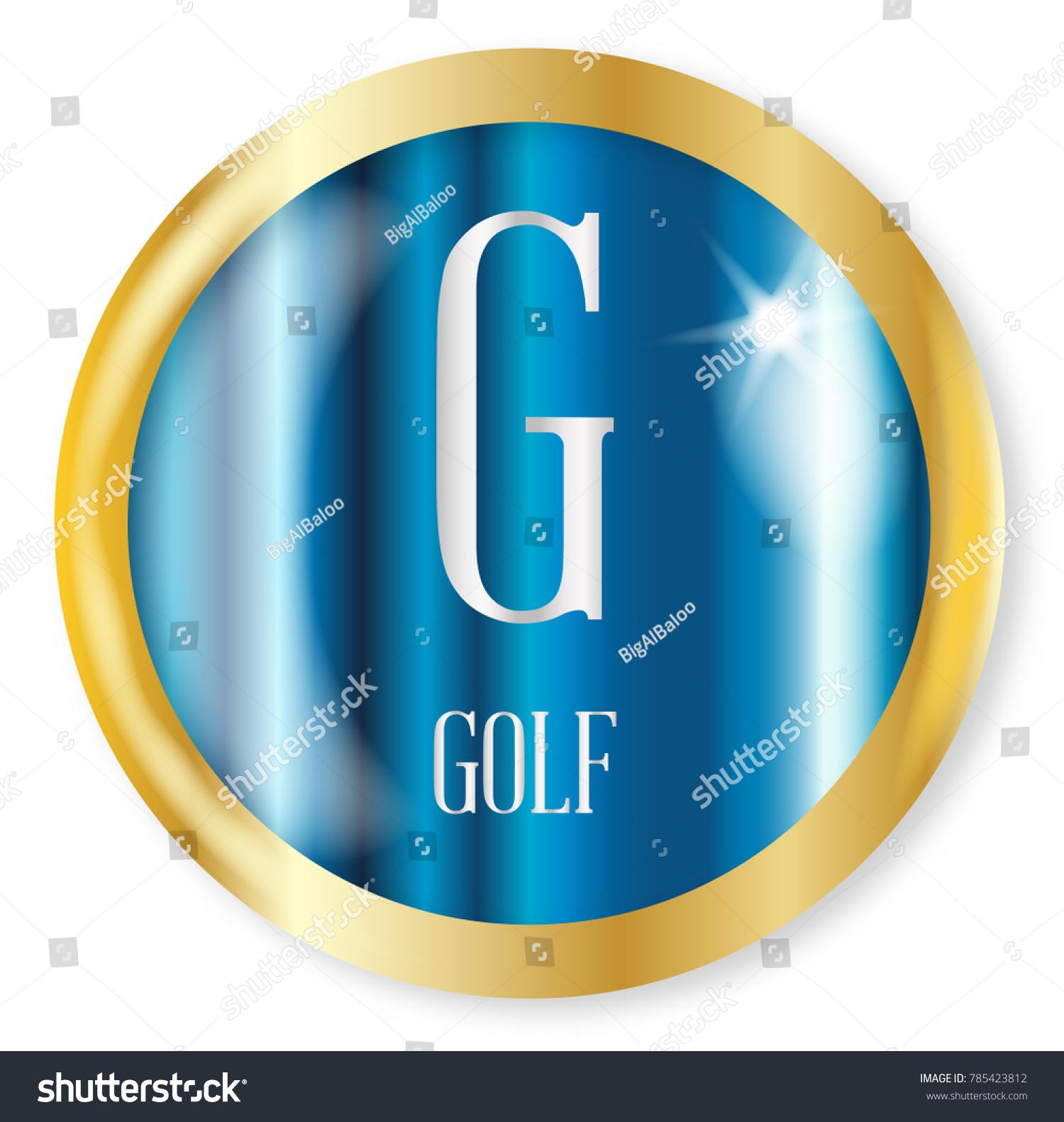 G Golf Button Nato Phonetic Alphabet Stock Illustration 785423812
