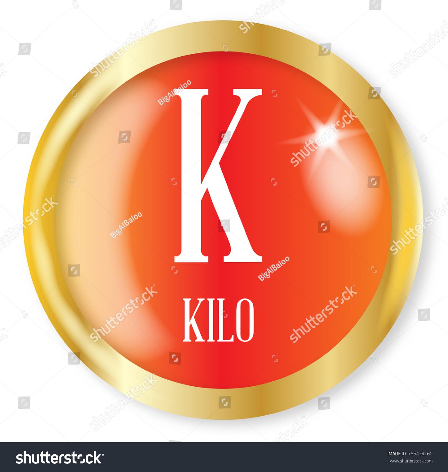K Kilo Button Nato Phonetic Alphabet Stock Illustration 785424160
