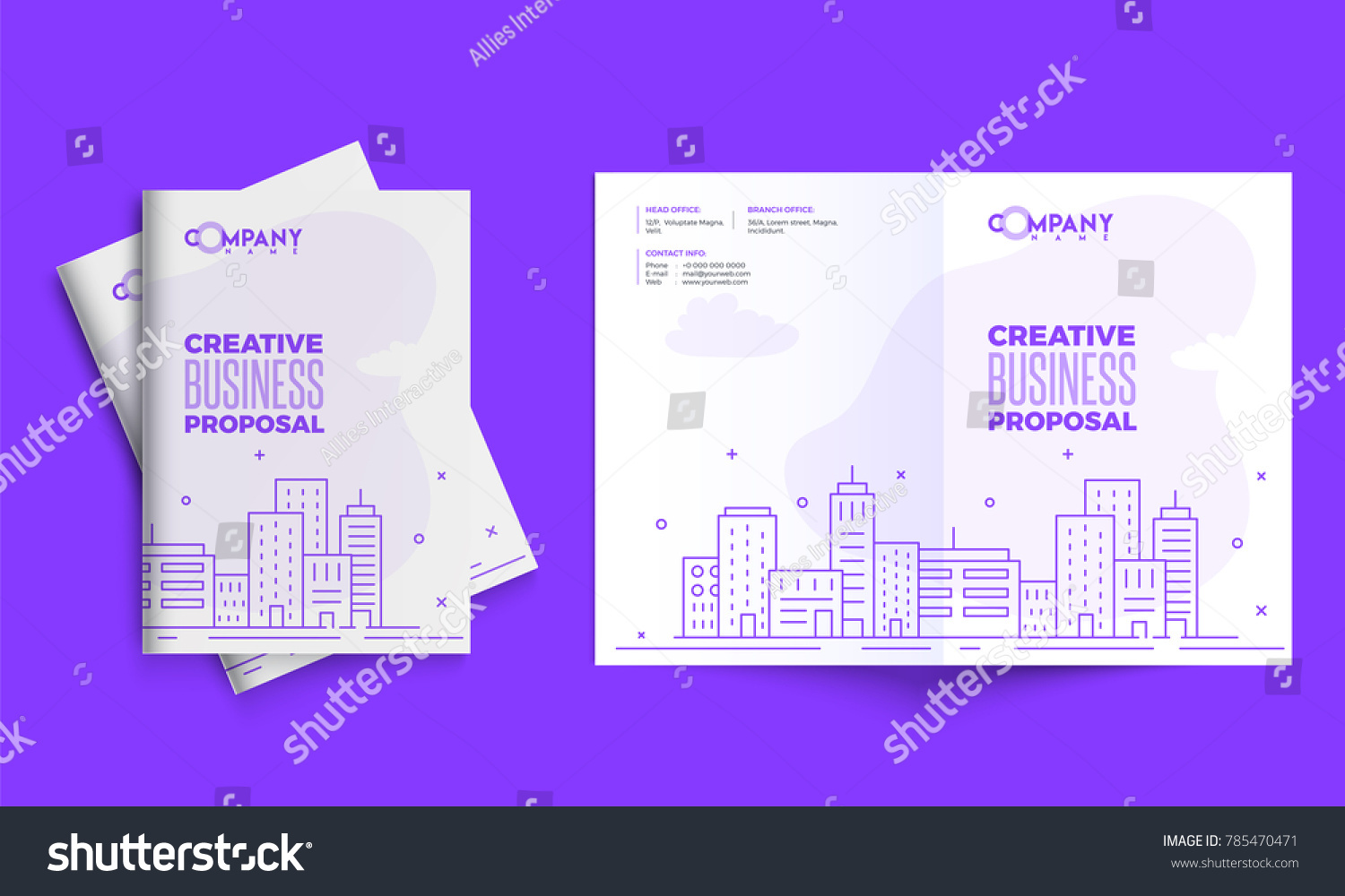 Creative business proposal design corporate template stock vector creative business proposal design corporate template layout with front and back pages presentation cheaphphosting Image collections